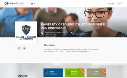 utcoba optimalresume com website optimal resume at university of