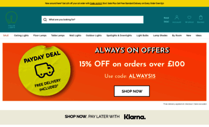 Valuelightscouk Website Discount Lighting Superstore Cheap LED