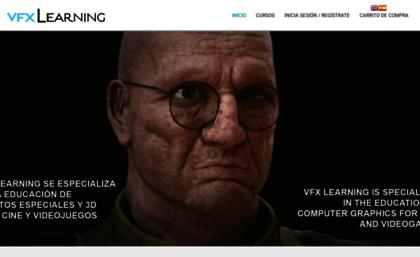 Vfxlearning com website  VFX Learning, Escuela Online de 3D