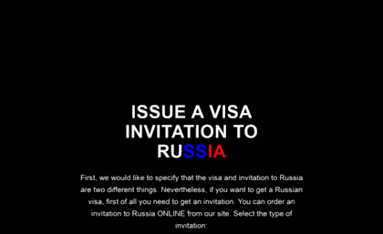 Visa sntpeters com website  RUSSIAN VISA INVITATION LETTER