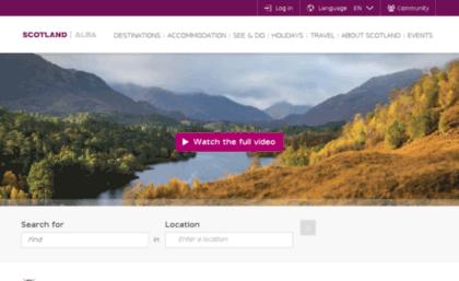 Visithighlands com website  Scottish Highlands Holidays