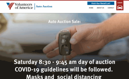 Voa Auto Auction >> Voaautoauction Org Website Auto Auction Volunteers Of America
