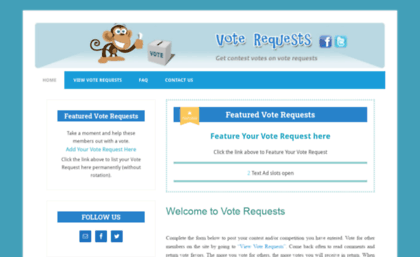 Voterequests com website  Vote Requests - Online Voting