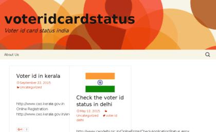 Voteridcardstatus Info Website Voteridcardstatus Voter Id Card