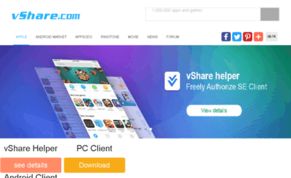 Vshare com website  VShare: Download paid apps for free on