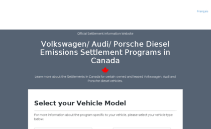 Vwemissionsinfo ca website  Volkswagen/Audi/Porsche Diesel