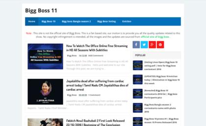 Watchbiggboss com website  Bigg Boss 11