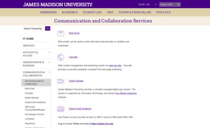 Webmail jmu edu website  James Madison University - JMU Information