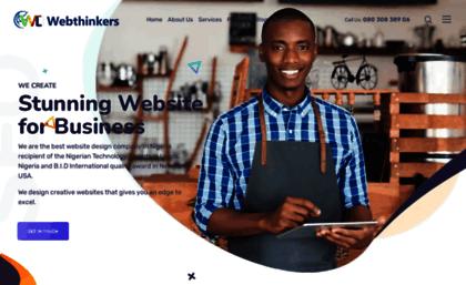 Webthinkers Net Website Best Web Design Company In Lagos Nigeria