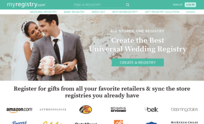 Wedding Myregistry Com Website Best Wedding Registry Myregistry Com