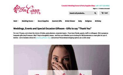 Weddingfavourscanada com website  Wedding Favours Canada - Wedding