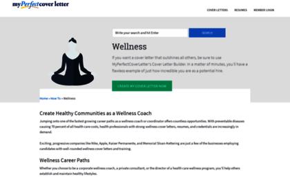 Wellnessmyperfectcoverletter Website Leading Wellness Cover