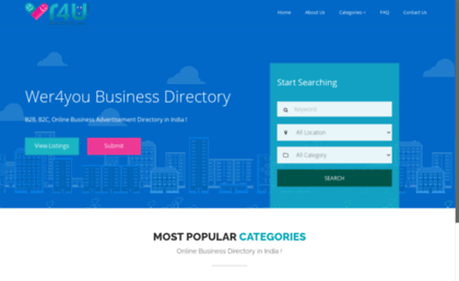 Wer4you in website  Local Business Listing, B2B, B2C, Online
