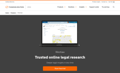 Westlawnext com website  Westlaw Legal Research | Thomson
