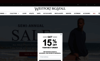 e96be3ecca0 Westportbigandtall.com website. Luxury Big and Tall Clothing for Men ...