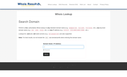 Website Owner Lookup >> Whoisresult Com Website Whois Lookup Tool Search Domain Name Ip