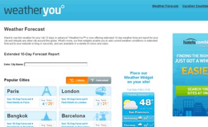 Widgets hotelscombined com website  WeatherYou - 10 Day