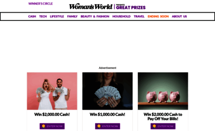 Womansworld giveaways