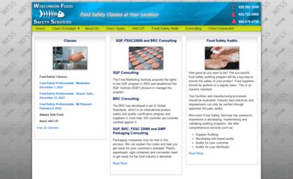 Wisconsinfoodsafetyservices com website  HACCP Class | ServSafe