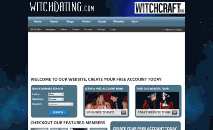 Free witch dating