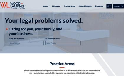 Oh Law Firm >> Woodlamping Com Website Wood Lamping Llp Cincinnati Oh