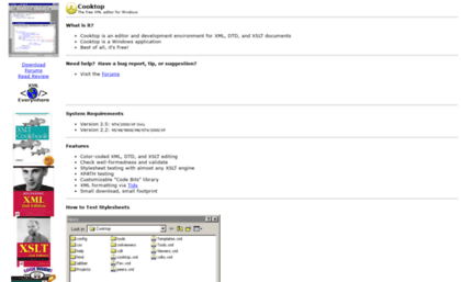 Xmlcooktop com website  Cooktop: The free XML editor for Windows