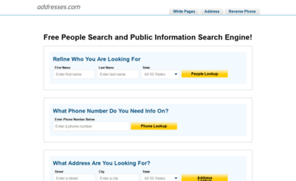 Yellowpages addresses com website  People Search | Business