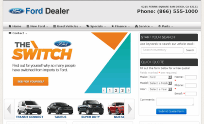 San Diego Ford Dealers >> Yourlocalforddealer Autofusion Com Website Local Ford