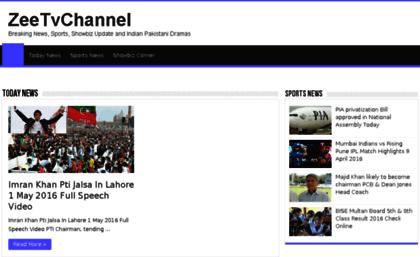 zee tv website