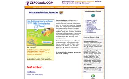 Zerolines com website  Grocery Delivery Online - discounted online