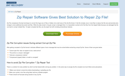Ziprepair bkfrecoverytool com website  Zip Repair Tool » How